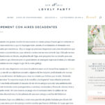 Editorial para Clouds Events en All Lovely Party